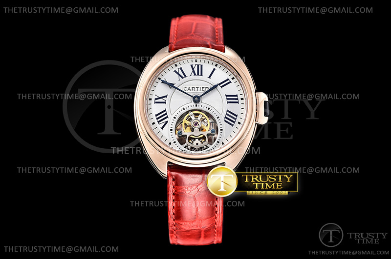 Копии часов Cartier Cle De Cartier Tourbillon Ladies